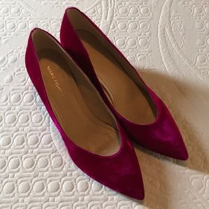 Marc Fisher velvet block heels